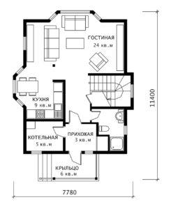 План 1 этажа Лира