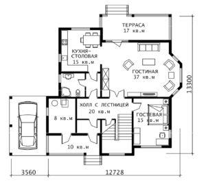 План 1 этажа Норфолк