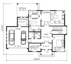 План 1 этажа Плес