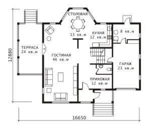 План 1 этажа Рэдиссон
