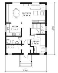 План 1 этажа СK-02