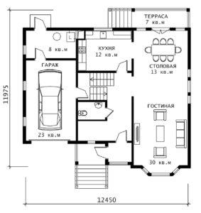 План 1 этажа Элегант