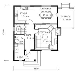 План 1 этажа Эльдорадо-2