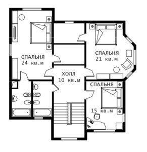 План 2 этажа Норфолк