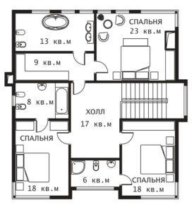 План 2 этажа Плес