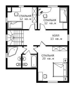 План 2 этажа Элегант