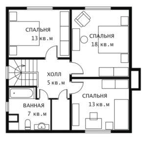 План 2 этажа Эльдорадо-2