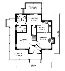 План 1 этажа (Вереск)