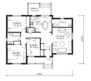 План 1 этажа Астория-2