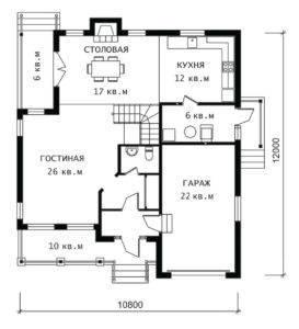План 1 этажа Бавария