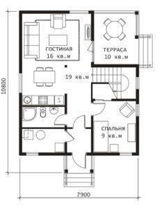 План 1 этажа Березка-2
