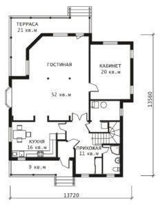 План 1 этажа Бруклин
