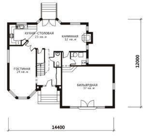 План 1 этажа Денвер