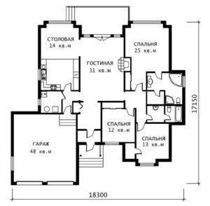 План 1 этажа Эдуард