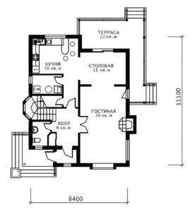 План 1 этажа Ирис