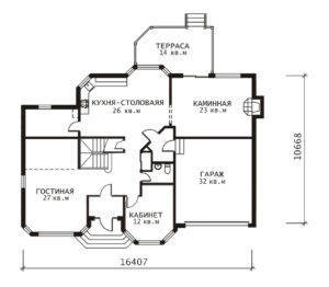 План 1 этажа Ключик