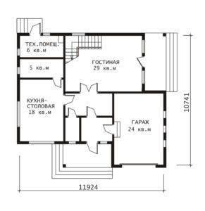 План 1 этажа Комфорт-2