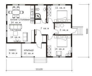 План 1 этажа Ока-1