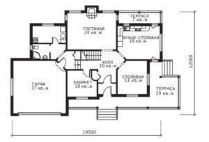 План 1 этажа Прованс