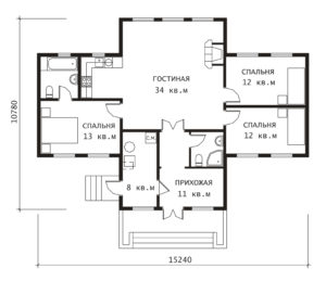 План 1 этажа Усадьба-1