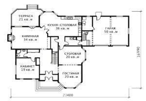 План 1 этажа Версаль