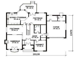 План 1 этажа Виктория