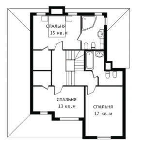 План 2 этажа Бавария