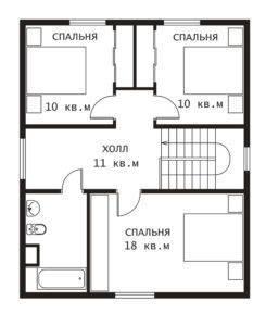 План 2 этажа Березка-2