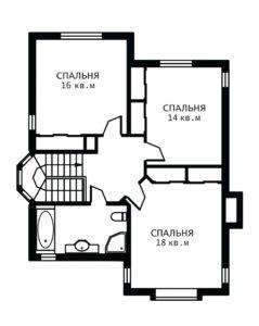 План 2 этажа Ирис
