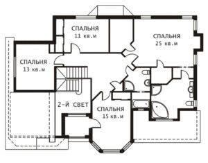 План 2 этажа Ключик