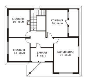 План 2 этажа Комфорт-2