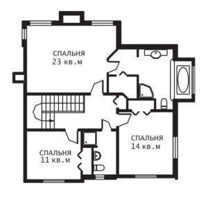 План 2 этажа Прованс