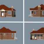 Проект какркасного дома Форест