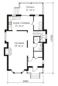 План 1 этажа Эльф-2