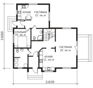 План 1 этажа Фримон