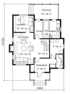 План 1 этажа Фронтенак