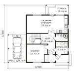 План 1 этажа Примула