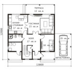 План 1 этажа Примула-3