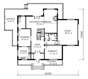 План 1 этажа Шале