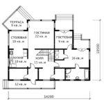 План 1 этажа Серенада