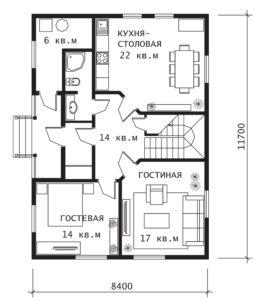 План 1 этажа Сказка-2