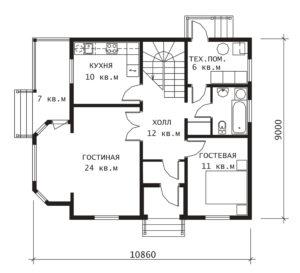 План 1 этажа Удачный