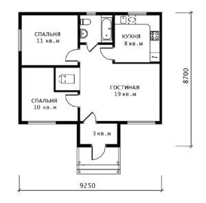 План 1 этажа Вологда-1