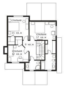 План 2 этажа Фронтенак