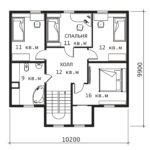 План 2 этажа Примула-3