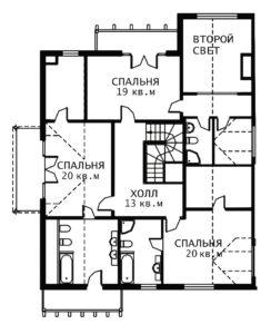 План 2 этажа Шале