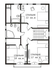 План 2 этажа Сказка-2