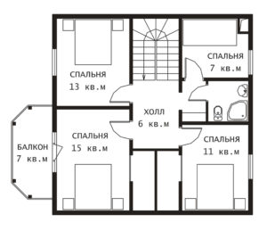 План 2 этажа Удачный