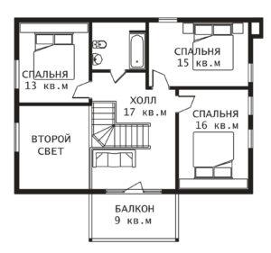 План 2 этажа Усадьба-2