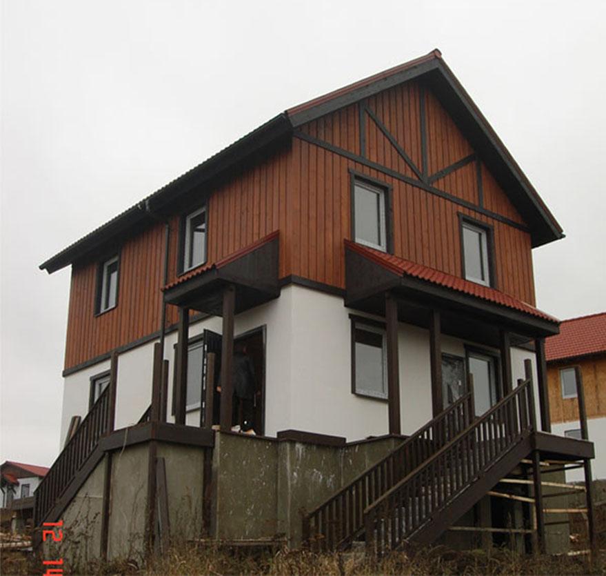 Каркасный дом по проекту Ока-2